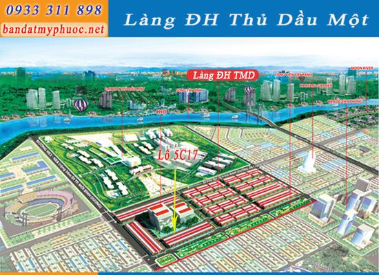 Bán lô 5C17 đất Mỹ Phước 4, đối diện siêu thị