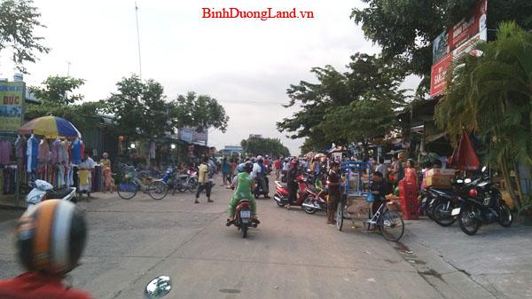 Đất Mỹ Phước 3 gần chợ, đường DJ9, hướng tây giá 225tr/150m2