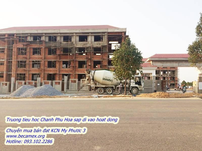 Trường tiểu học Chánh Phú hòa sắp hoàn thành đi vào hoạt động